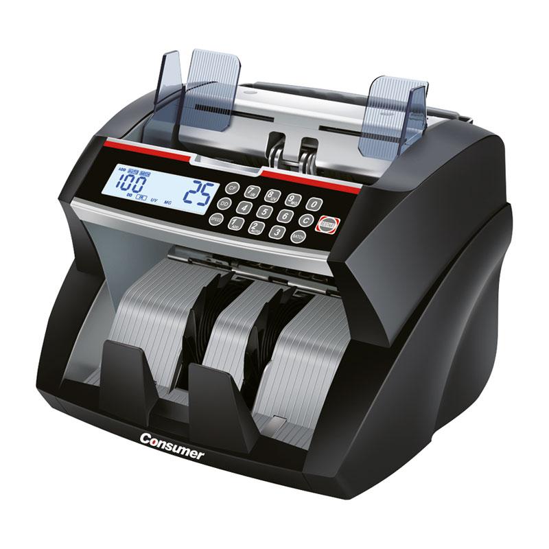 Contador de billetes PB5000 con detector de billetes falsos y pantalla LCD