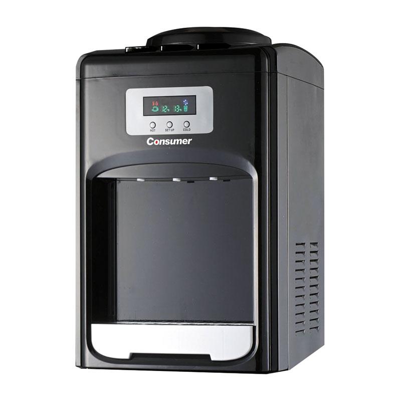 Dispenser de agua fria & caliende mesada digital negro