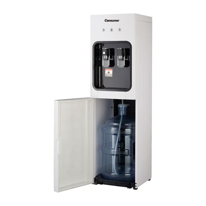 Dispenser de agua fría & caliente de pie con botellon interno